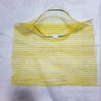 30x47cm gold yellow HDPE material raschel mesh bags for packing cabbage with hand