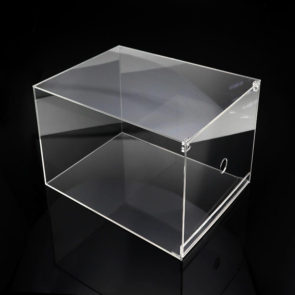 Clear Drop Front Plastic Shoe Box With Customized Logo