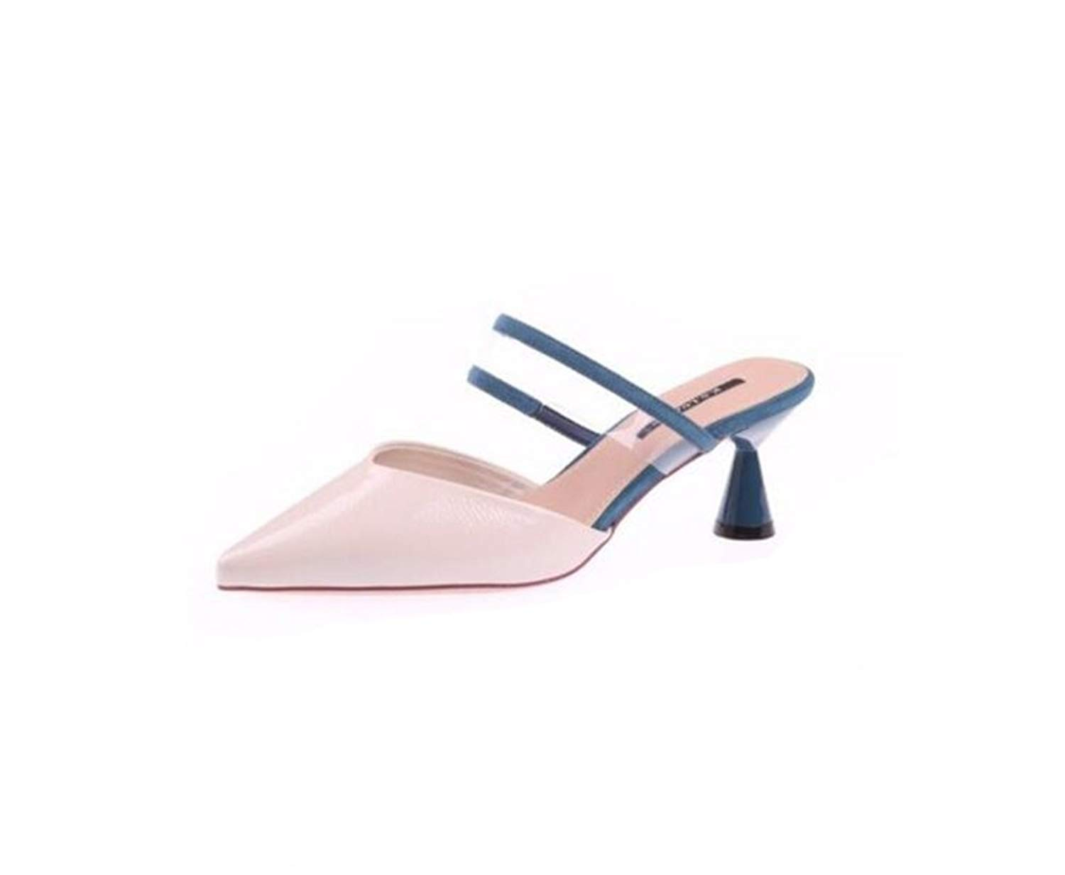 01b96dfb4128 Get Quotations · MOREMOO Women Luxury Mules Slippers Pointed Toe Half Slippers  Ladies Fashion Mules Shoes Slip on