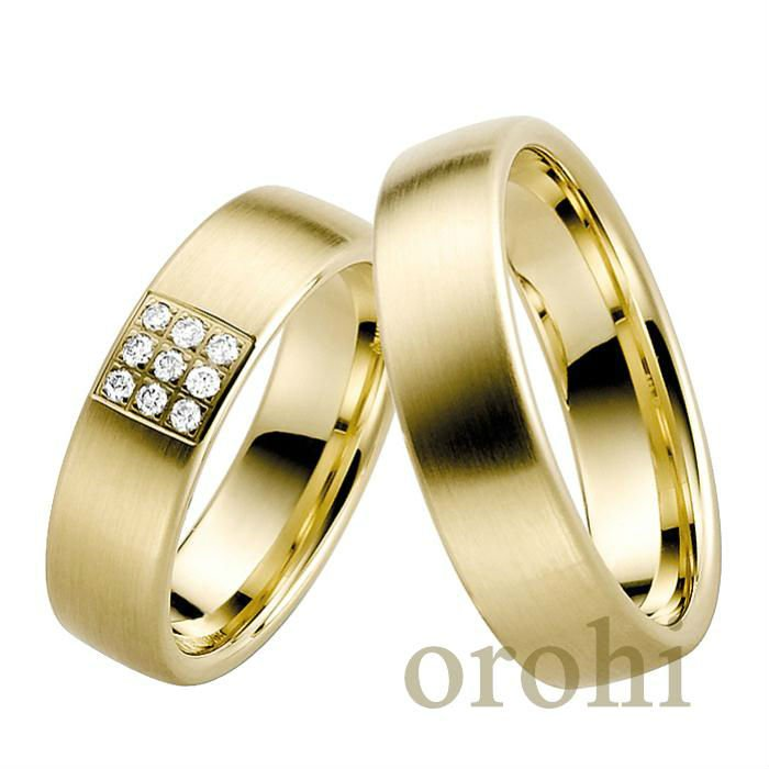 wedding gold rings couple,anillo de oro 22ct,corte redondo anillo de diamantes HG241