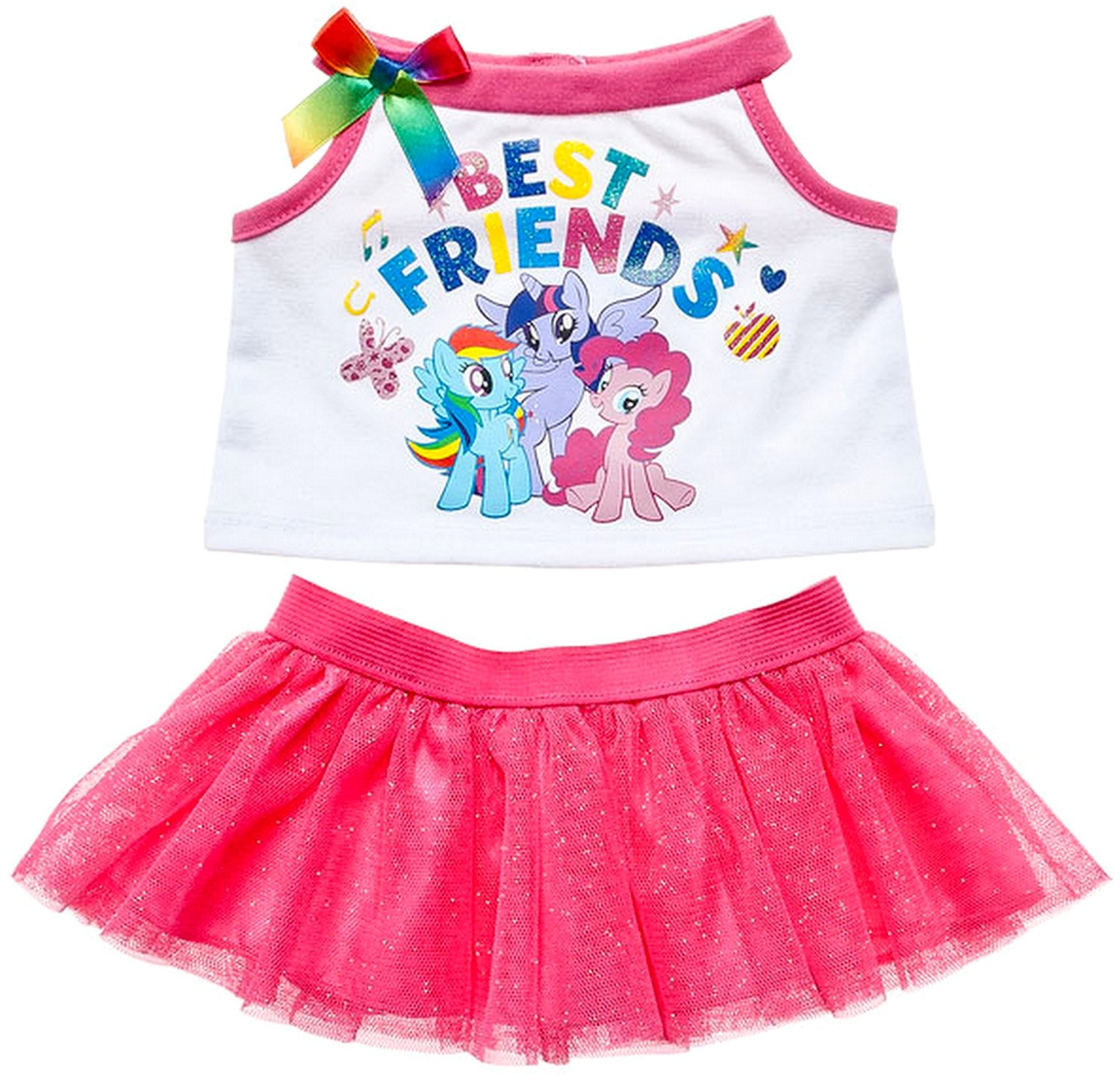 c510073b28a0 Get Quotations · Build a Bear My Little Pony Best Friends Shirt Tulle Skirt  2 pc. Outfit Teddy