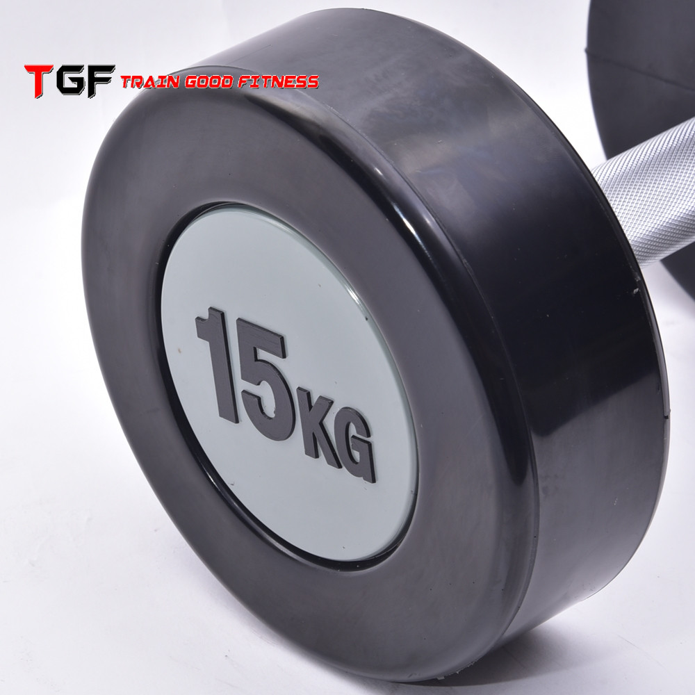 Factory price Urethane dumbbell/weight lifting dumbbell/PU dumbbell