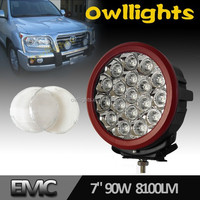 7inch LED 90W Work Light Round in Auto Lighting System 8100LM Offroad Vehicles, SUV, Truck, 4x4, ATV Work Lamp