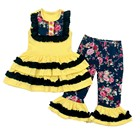 Children cotton smock kids clothing wholesale little girl summer remake clothing