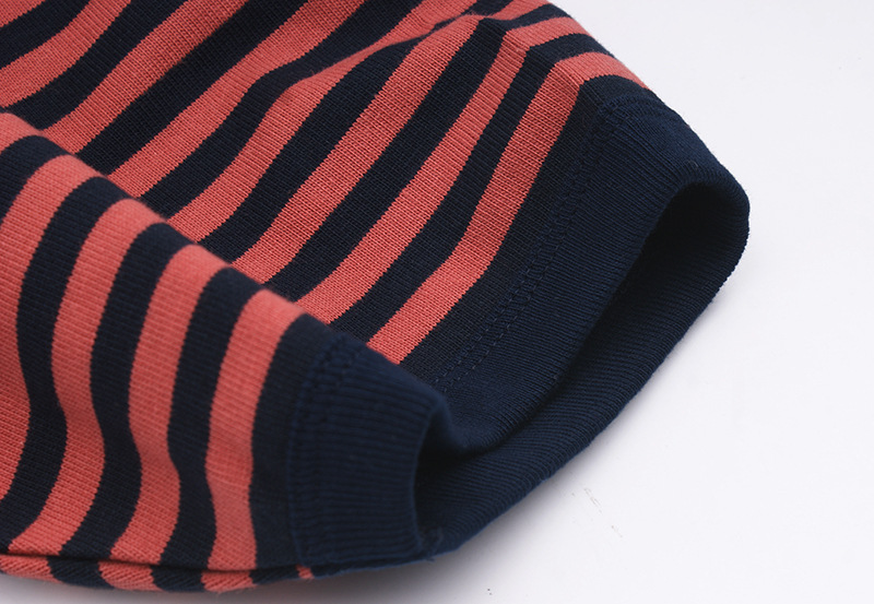 European&American style Horizontal stripes 300gsm heavy soft thsirt for men