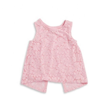 6748c83cb3 Custom Baby Girls Top Design Lace Split Back Tank Baby Girl Lace Tube Top  Wholesale