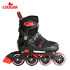 Factory supply cheap four wheels adjustable high quality inline skate shoes