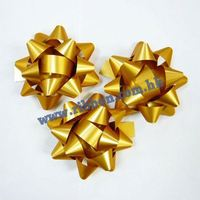 (IN STOCK) 1800pcs/lot 60mm star bows gift bows (gold color)