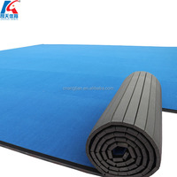 used wushu carpet wrestling rhythmic gymnastics mat roll gymnastics rhythmic sports for cheerleaders