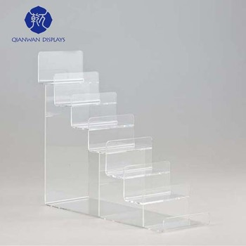 Top Quality Tabletop Leather Belt Clear Acrylic Tiers Display Shelf For  Shops To Sale