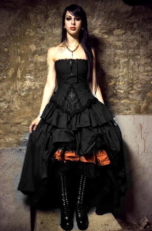 Wedding dresses: plus size goth style wedding dresses