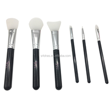 silicone head 6Pcs make up tools cosmetic makeup brush kit