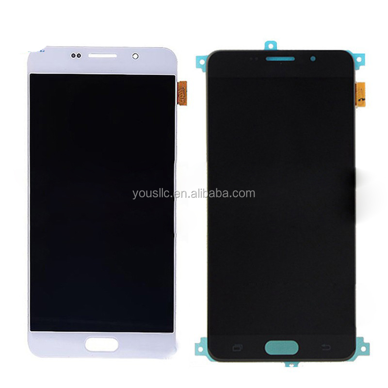 Replacement Original Mobile Phone Parts Full LCD Complete LCD Touch Screen Digitizer Assembly For Samsung Galaxy A7 A710 2016