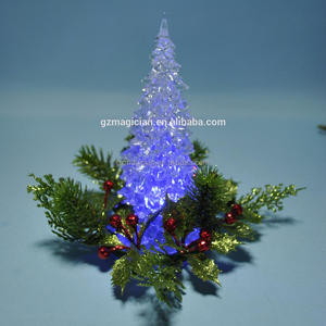 crystal battery operated christmas tree candle led light star for table decor