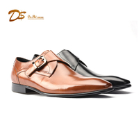 Italian style classy men evening dress shoes genuine leather dress shoe