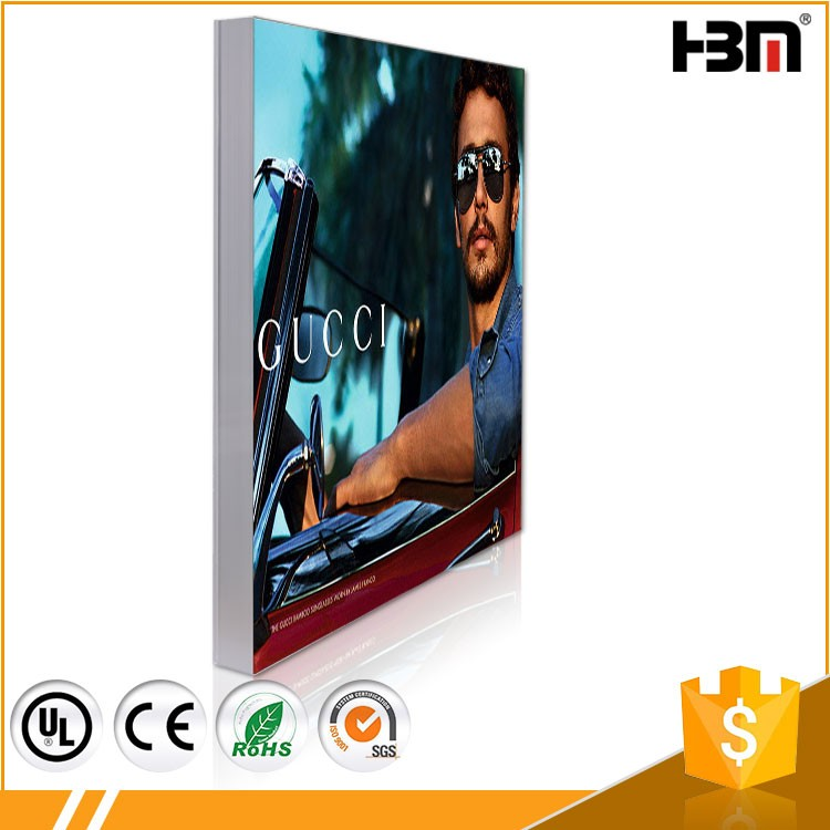Poster display board super thin led picture side snap frame light box with lightbox photography