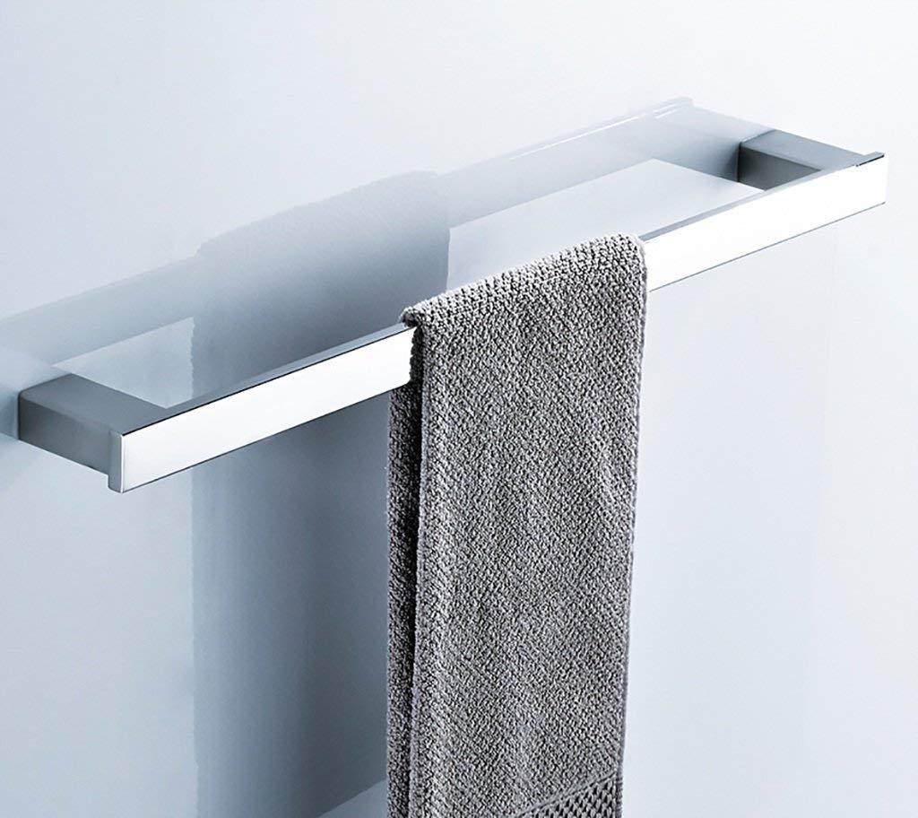 EQEQ Bath Rooms Rack Towel Rack Place Wall Mount Towel Holder Stainless Steel Single Towel Rack Bath Rooms Bath Rooms Bath Rooms Kitchen Towel Minimalist Rack Towel Rack Shelf (Size: 40 cm).