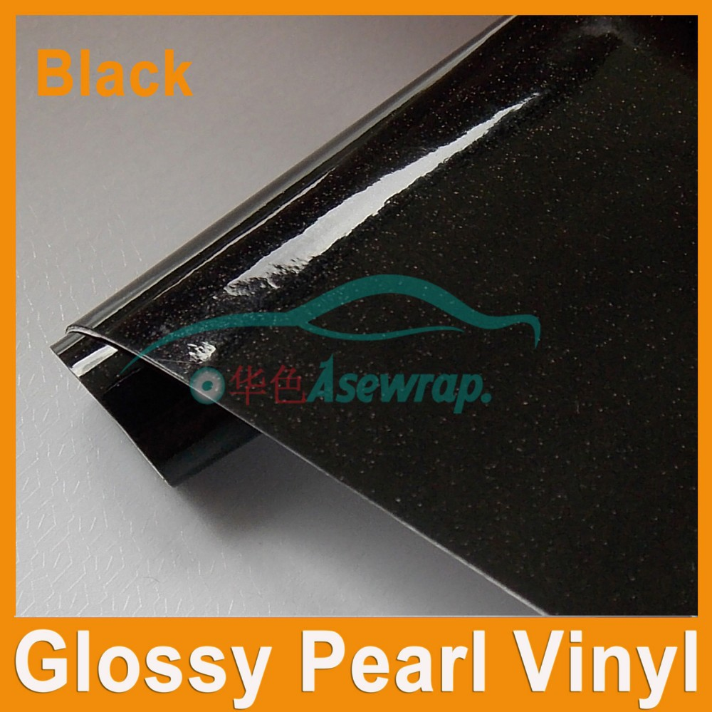 Glossy clear sanding diamond car body wrap car color changing film gloss black pearl wrap vinyl