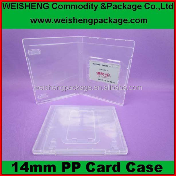 free sample transparent pp Card case/calling card holder