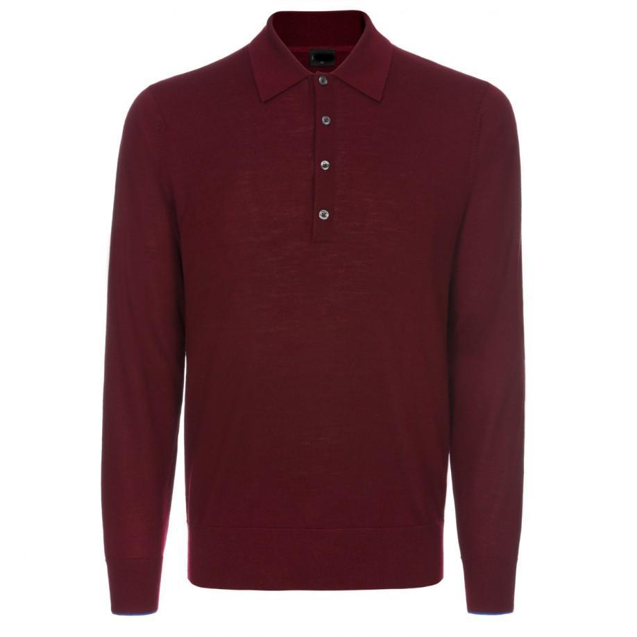 Mens Damson Merino Wool Polo Shirt Buy Long Sleeve Skeleton Shirt