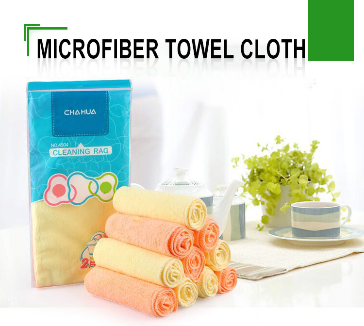 Red superior quality microfiber cleaning towel cloth