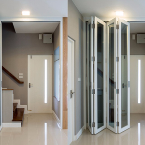 Manufacture Good Quality Large Sliding PVC Plastic Folding Door India Style
