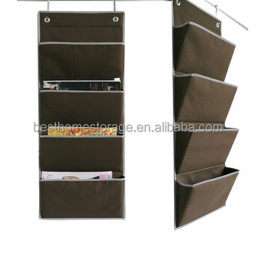 Wall Hanging Mail File Paper 3 Shelf Fabric Organizer, Home And Office