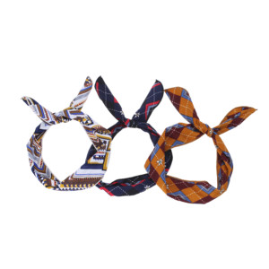 Simple and fashionable print silk women and kids hair accessories sports headband
