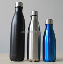 500ml food grade stainless steel double wall thermal vacuum flask cola shape sport water bottle