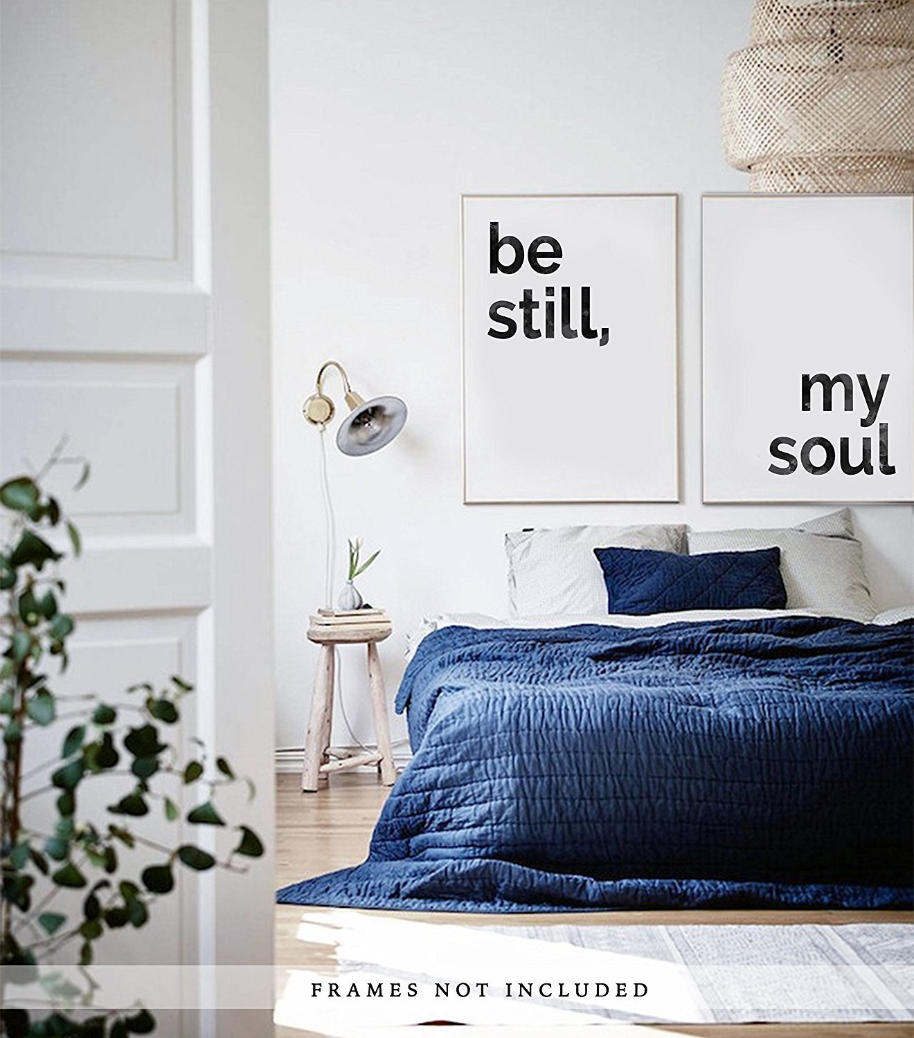 Be Still My Soul Artwork / Set of 2 Prints / Above The Bed Art / Bedroom Decor / Home Decor / Modern Trendy Artwork / Anniversary Gift / Large Artwork / Frames Not Included (24 x 30 Inches)
