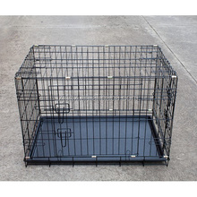 Dog Cage 42 inch Puppy Crate XXL Cozy Pet Black Gundog Dog Crate Folding Metal