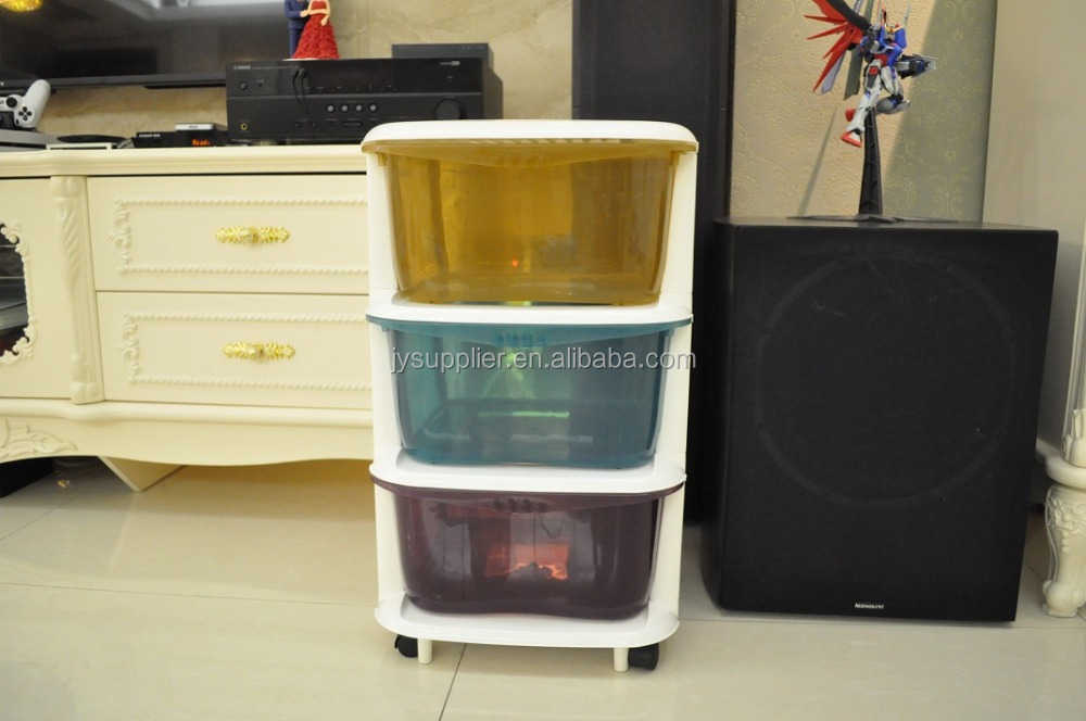 plastic kitchen storage cabinet with wheel