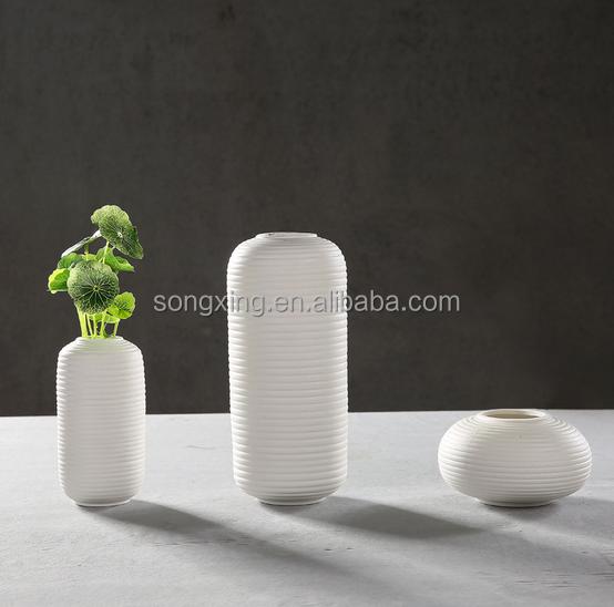 3 pièces ensembles blanc moderne vase en céramique usine