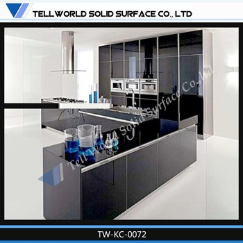 Prefab Artificial Marble Countertop Commercial Kitchen Cabinet ...