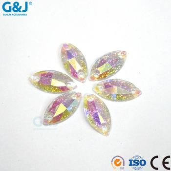 Guojie brand New arrival high quality flatback PV7#15 and Factory direct sale resin stone