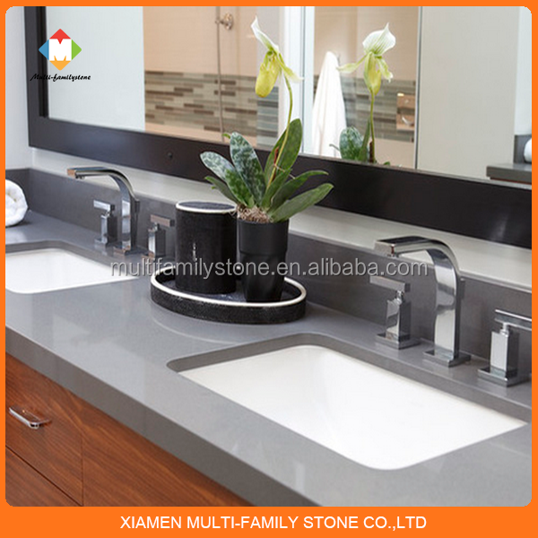 Amazing Grey Acrylic Vanity Top Quartz Veneer Countertop   Buy Vanity Top,Quartz  Veneer Countertop,Grey Acrylic Vanity Top Quartz Veneer Countertop Product  On ...