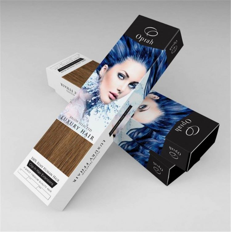 New products fashion design easy carry quality hair extension packaging