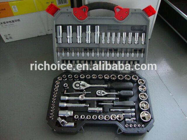 RICHOICE   car repair tool and ratchet 108 Pc drive hex  108Pcs wrench socket set