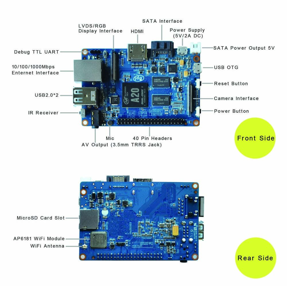 Beyond Orange Pi Banana Pi M1 Plus Wifi Ap 6181 Module On Board Ir ...