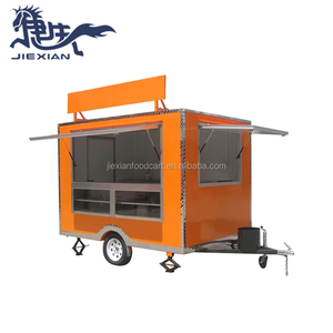 JX-FS280 Shanghai Jiexian sales Service Provided fast food kiosk Commercial Outdoor Fast Food Mobile Kitchen Kiosk/Trailer