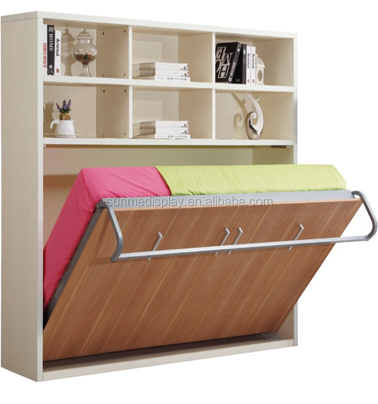 , doble cama plegable cama muebles de pared oculta MK04Camas