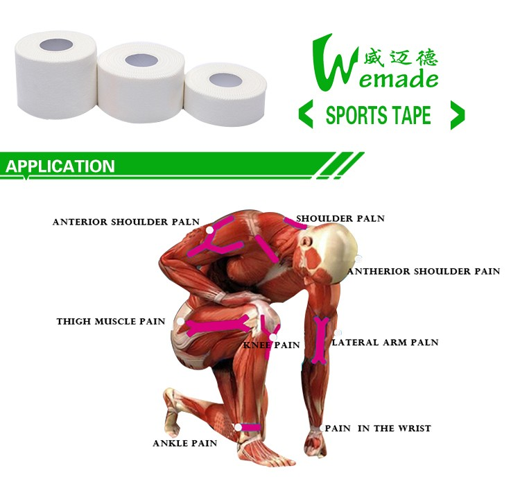WEMADE Best Selling Products Comfortable Cotton Zinc Oxide Athletic Tape Custom Sports tape