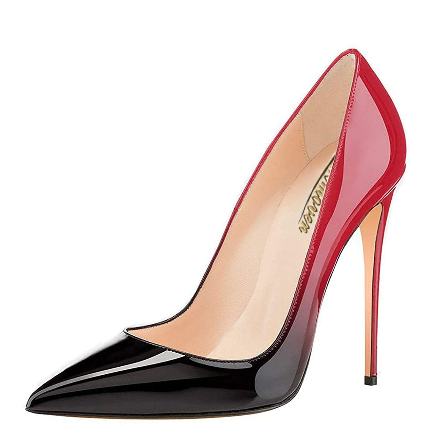 776766b3301c Get Quotations · Modemoven Women s Pointy Toe High Heels Slip On Stilettos  Large Size Wedding Party Evening Pumps Shoes