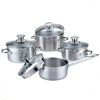 Msf Permanent Style Good Quality Cooking Pot Set 8pcs Stainless Steel Kitchenware With Strainer Lids