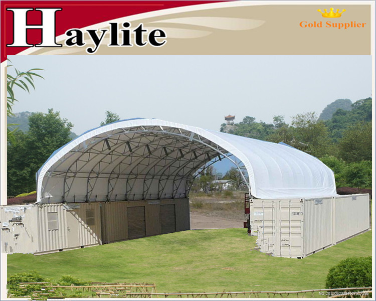 Steel truss frame Container storage shelter warehouse tent