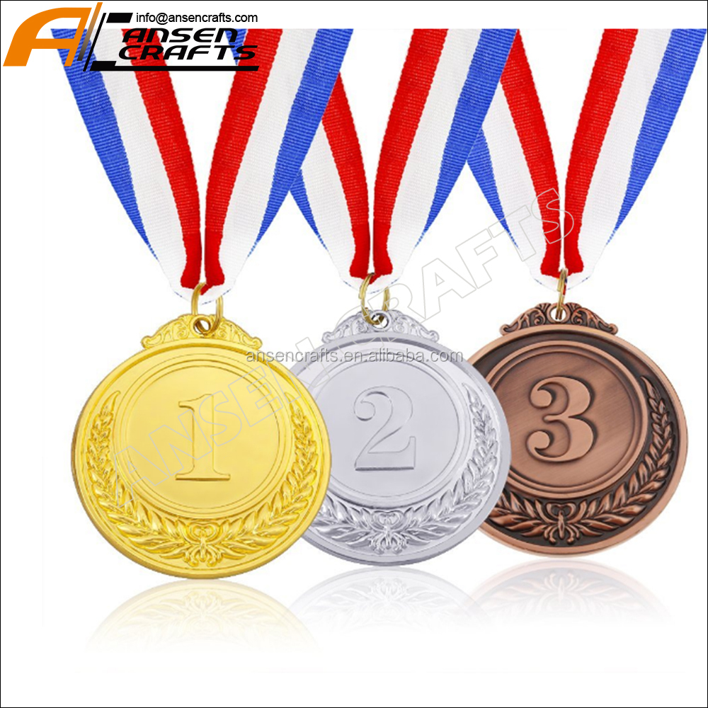 Gold Silver Bronze Award Medals - Winner Medals Gold Silver Bronze with Ribbon