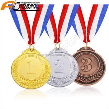 Medaglie Premio Vincitore Oro Argento Bronzo Oro Argento Bronzo Medaglie  Con Nastro