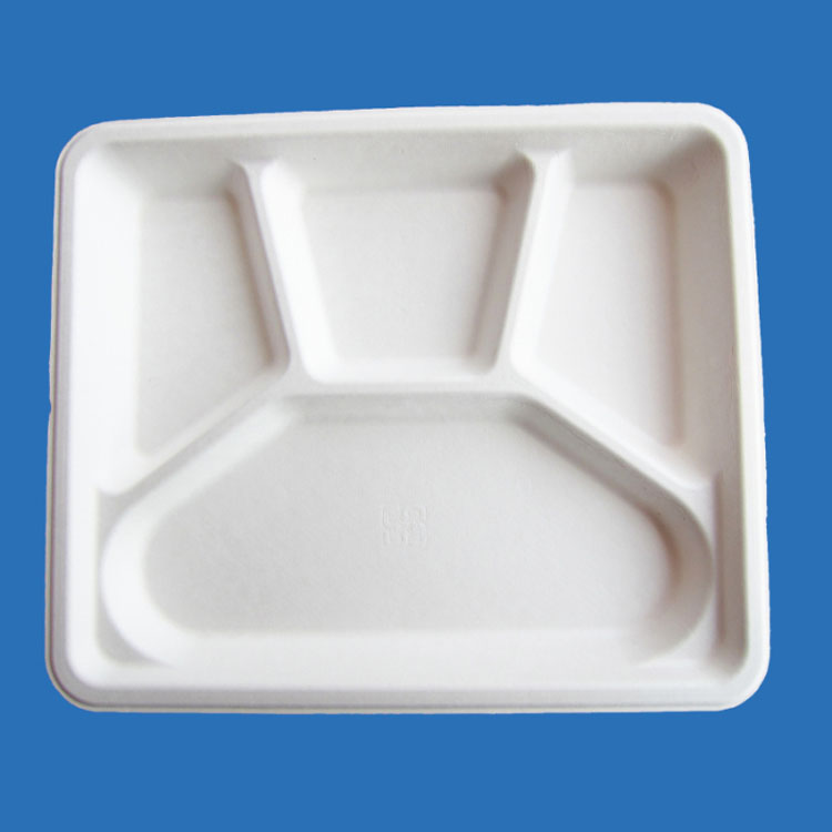 4 compartment food tray for catering