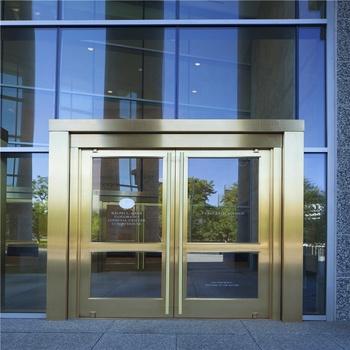 Office Building Entry Main Door Aluminum Casement Door