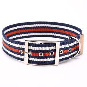 New Pet Products Durable Cotton Dog Collar with metal buckle, Custom Logo organic dog collar Pet Collar